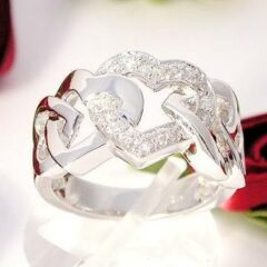 Endless Love silver ring med klara cubic zirkonia